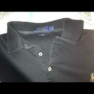 Large Ralph Lauren black short sleeve classic polo